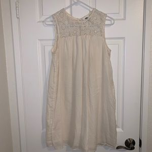 Old Navy Cream boho dress with lace neckline